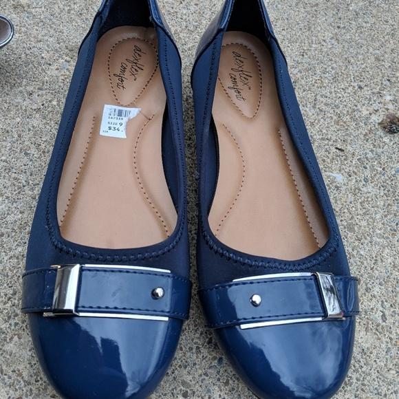 Womens Dexflex Navy Blue Flats Shoes